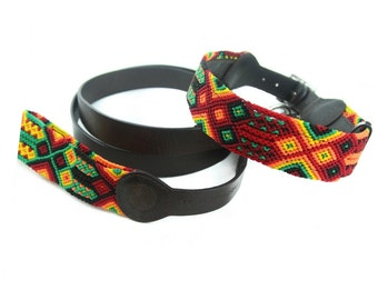 Rasta Leash - Red/Yellow/Green