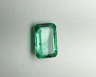 0.41ct 5.8x3.8 Emerald cut natural Emerald