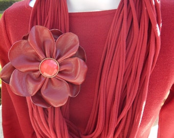 Red Infinity Scarf-Fabric Scarf
