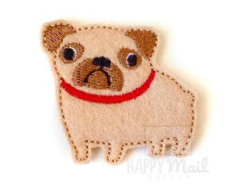 Pug Felties Dog Felties - CUT Felties - Set of 4