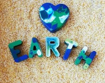 Love Earth Crayon Set / Recycled Crayon Set