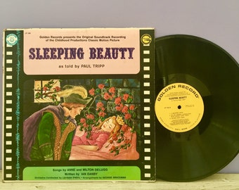 Vintage Sleeping Beauty Record Album, Golden Records Sleeping Beauty, Movie Soundtrack Sleeping Beauty, Children's Record Album