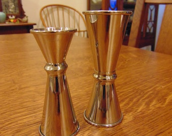 Vintage Pair of  Yukiwa Stainless Steel Shot Glasses (free shipping)