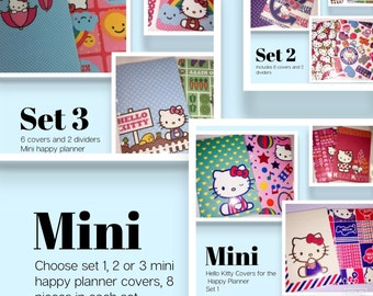 Hello Kitty mini happy planner cover sets