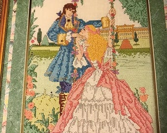 Vintage Graph Works International Age of Romance counted cross stitch The Prince and Princess Volume 5 design leaflet