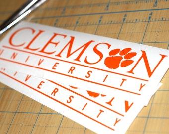 Clemson University Sticker | Clemson Tigers Sticker | Clemson Decal