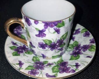 VINTAGE Inarco China, Japanese China Demitasse Teacup & Saucer E-563L , excellent condition FREE SHIPPING