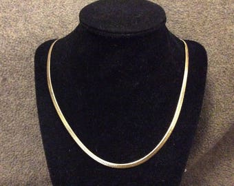 "Goldtone Herringbone 18"" Chain"