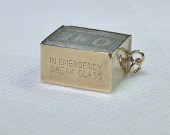 9ct Gold Charm containing a One Pound Note