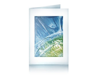 Greeting card blue landscape