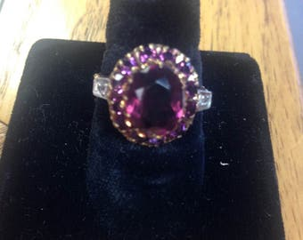 Vintage 10kgold Amethyst ring