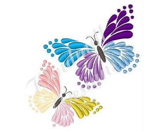 Two Butterflies - machine embroidery design