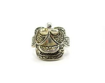 Custom Sterling Silver Western Saddle Design Ring Size 9.5