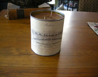 Scented soy candle with  bill head label