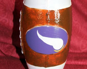 Viking Hand Painted Glass Tumbler