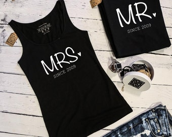 "T-shirts for couple ""MR & MRS"""