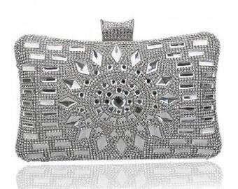 Luxury Silver Crystal Evening / Prom / Clutch Bag BAG15