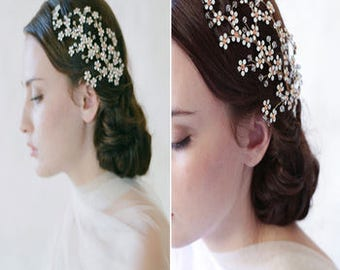 Pretty Floral Blossom Bridal Hair Comb