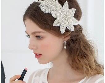 Milly Crystal and Beaded Bridal Headband