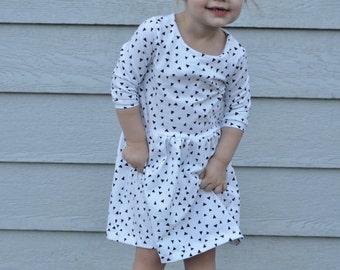 Black & White Triangle Dress