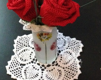 Crochet bouquet of roses