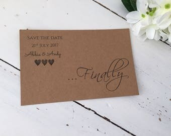 Finally..., beautiful save the date cards
