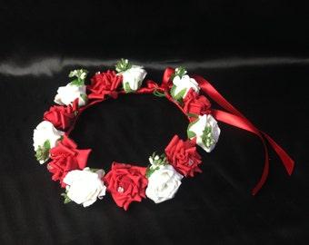 Flower Girl/ Bridesmaids Artificial Flower Crown Tiara