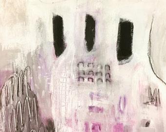 Original Abstract Art on Paper, modern art, home decor