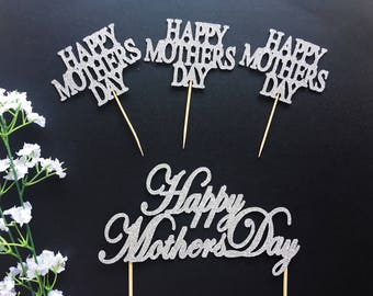 Happy Mothers Day Cake or Cupcake Topper-Mothers day cake/Best mom ever/Mother's Day Topper/Mothers Day Party/Mum/mothers day Topper/mum day