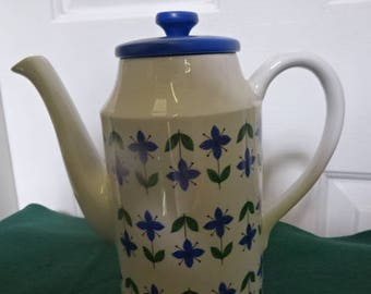 """Midwinter """"Roselle"""" Coffee Pot with Lid/Vintage/Retro/1970s"""
