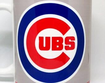 Custom Made Chicago Cubs Champions Coffee Mug