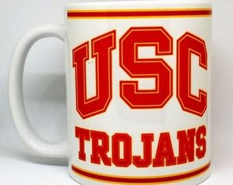 Custom Made USC Trojans Coffee Mug