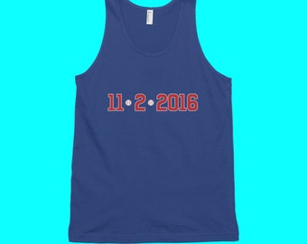 11/2/2016 Chicago Cubs World Series Tank Top