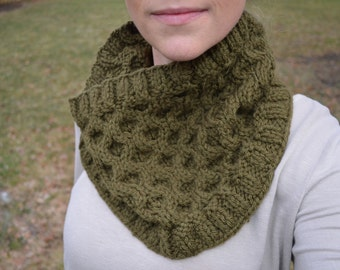 Kerry Cowl in Mossy Green