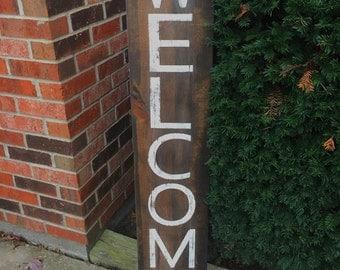 Welcome Sign, outdoor sign, farmhouse decor, front porch sign, home decor, rustic decor