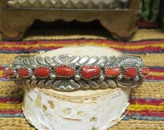 Begay Coral Bracelet