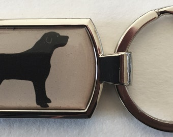Black labrador keyring  gift