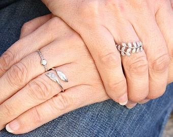 ring ears Silver 925 and zircons - engagement ring stones
