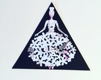 Handmade princess bookmark