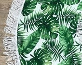 Handmade Tropical Leaves Baby Play Mat Tummy Time