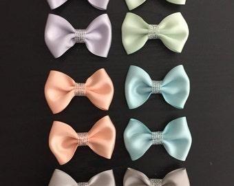 2 Hair bow clips