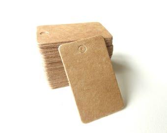 50 mini Tags labels American Kraft cardboard 2cmx3.3cm