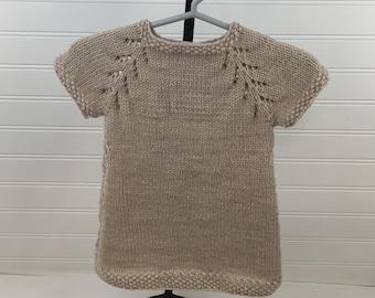 Khaki Knit Baby Dress