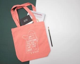 Sugar pink tote bag
