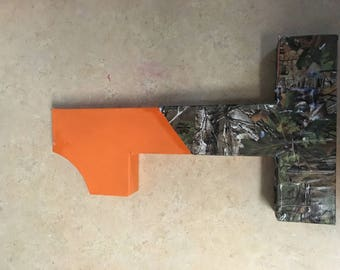 Camo and hunter orange birthday number