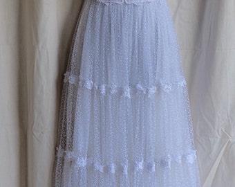 Vintage  white wedding or formal frock