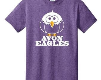 Heather Purple Avon Eagles T-Shirt - S