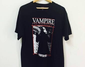 Vintage 90s Vampire Nosferatu glow in the dark movies from fashion victim/Akira/Ghost/Large/USA made