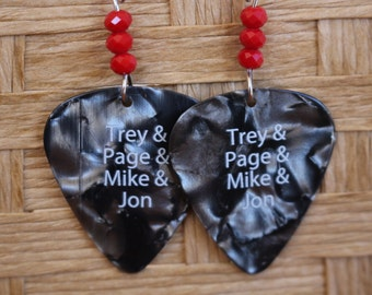 Phish guitar pick earrings, phish jewelry, phish earrings, guitar pick jewelry, guitar pick earrings