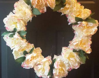 Summer wreath / spring wreath / front door wreath / door wreath / holiday wreath / flower wreath